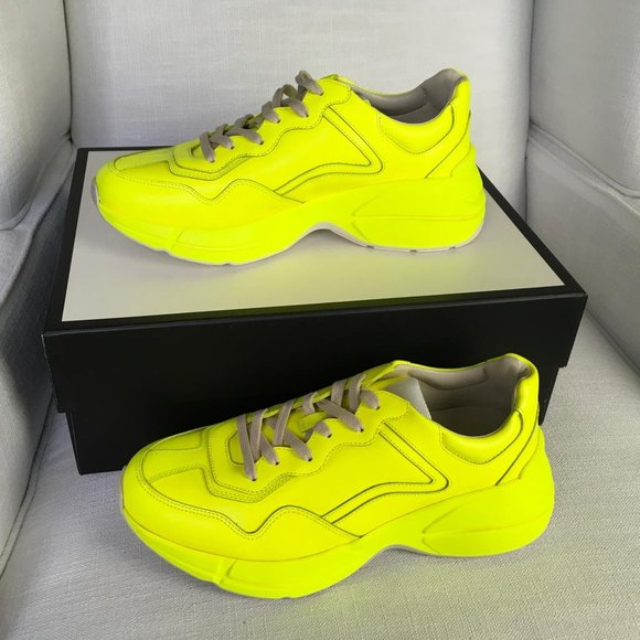 Rhyton Neon Yellow Mens Sneakers Size 7